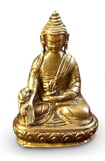 deko figur buddha figur ratnasambhava sitzend statue aus messing h he 7 5 cm klein asiatische. Black Bedroom Furniture Sets. Home Design Ideas