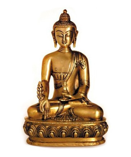 deko figur buddha figur medizinbuddha sitzend statue aus messing massiv h he 20 cm gro. Black Bedroom Furniture Sets. Home Design Ideas