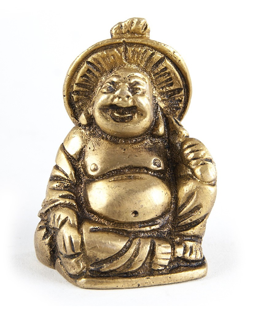 deko figur budai happy buddha figur sitzend statue aus messing h he 4 5 cm dicker lachender. Black Bedroom Furniture Sets. Home Design Ideas